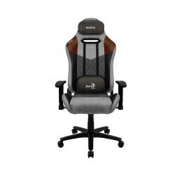 Aerocool DUKE AeroSuede Universal gaming chair Black  Brown  Grey (AEROAC-280DUKE-GREY)