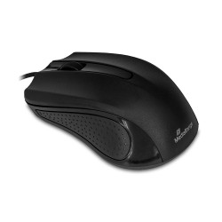 MediaRange Optical Mouse Corded 3-Button (Black, Wired)