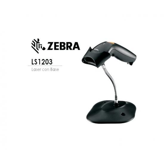 Barcode Scanner Zebra LS1203-CR, 1D, USB kit, Black